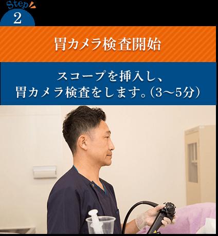 Step2 胃カメラ検査開始